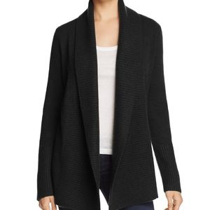 NWT C By Bloomingdale's Cashmere Open Cardigan XS